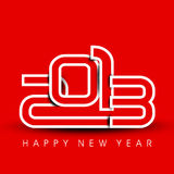 2013 Happy New Year greeting card. Stock Photography