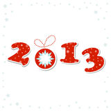 2013 Happy New Year greeting card Royalty Free Stock Photo