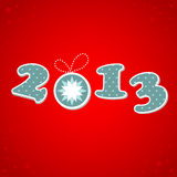2013 Happy New Year greeting card Royalty Free Stock Images
