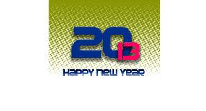 2013 happy new year halftone. 2013 letter isolated on a white background halftone Stock Photo