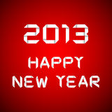 2013 Happy new year, happy new year card. Red background Royalty Free Stock Images