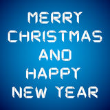 2013 Happy new year, happy new year card. Blue background Stock Images