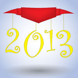 2013 Happy New Year illustration banner Stock Image