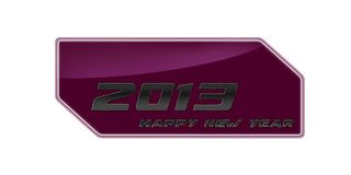 2013 happy new year pink. Happy new year 2013 written on a white background metal Stock Photo