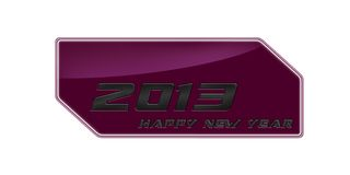 2013 happy new year pink metal Stock Photography