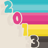 2013 happy new year, vector. 2013 happy new year greeting retro, vector Royalty Free Stock Image