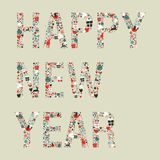 2013 happy new year xmas icons Royalty Free Stock Photo