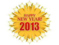 2013 Happy new years star illustration Royalty Free Stock Photos