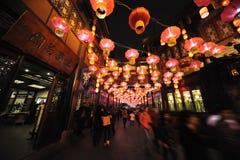 2013 het Chinese Festival van de Lantaarn in Chengdu Stock Fotografie