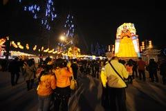 2013 het Chinese Festival van de Lantaarn in Chengdu Stock Foto