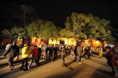 2013 het Chinese Festival van de Lantaarn in Chengdu Stock Foto's