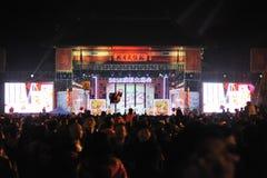 2013 het Chinese Festival van de Lantaarn in Chengdu Royalty-vrije Stock Foto