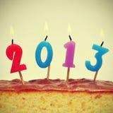 2013, het nieuwe jaar Stock Foto's