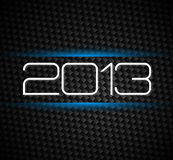 2013 hight tech style new year. Background over a carbonic background Royalty Free Stock Images