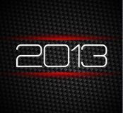 2013 hight tech style new year background. Over a carbonic background Stock Photography