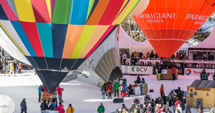 2013 hoade 35th luftar ballongfestivalen, Schweitz Royaltyfri Bild