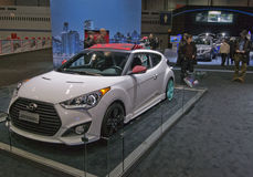 2013 Hyundai Veloster. May be used to advertise for an upcoming auto show or for the sale of a new vehicle Royalty Free Stock Image