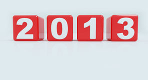 2013 im roten Würfel Stockbild