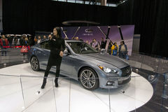 2013 Infiniti Q50. May be used to advertise for sale of new cars or for advertising upcoming car shows Royalty Free Stock Image