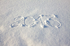 2013 inscription on snow Royalty Free Stock Photos