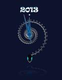 2013. Jaar van de slang. Stock Afbeeldingen