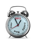 2013 Jahr auf Alarmuhr Stockbilder