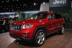 2013 Jeep Grand Cherokee. 111-th Chicago auto show 2012 Royalty Free Stock Images