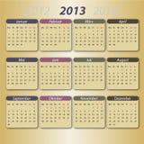 2013 kalendarzowy Deutsch ilustracja wektor