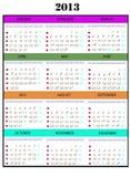 2013 kalenderår royaltyfri bild