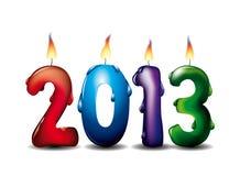 2013 Kerzen Lizenzfreie Stockbilder