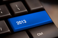 2013 Key On Keyboard. New year stock photos