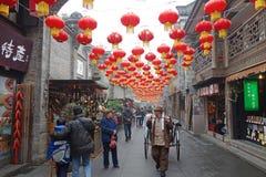 2013 kinesiska tempelmässa för nytt år i Chengdu Royaltyfri Bild