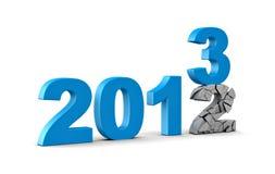 2013 krasch 2012 Arkivbild