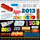 2013 Labels. 2013 Year Labels, Icons, Tags and Stamps - set of various design elements Stock Photo
