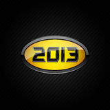 2013 logo. Digits 2013 as a logo on a carbon fiber background royalty free illustration
