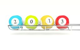 2013 lottery balls Stock Photo