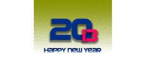 2013 lyckliga halvton för nytt år vektor illustrationer
