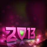 2013 lyckliga hälsningskort för nytt år. Arkivfoto