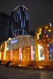 2013 lyckliga kinesiska nya år på natten Royaltyfri Fotografi