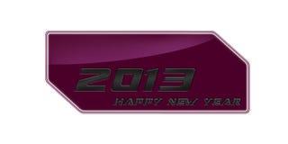 2013 lyckliga rosa färg för nytt år belägger med metall vektor illustrationer