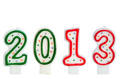 2013 made with cake candles Royalty Free Stock Photo
