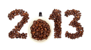 2013 made of coffee beans Royalty Free Stock Photography