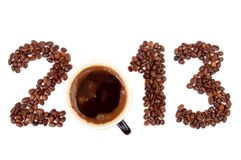 2013 made of coffee beans Royalty Free Stock Images