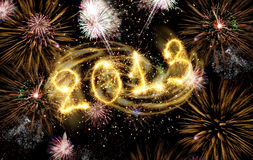 2013 made of sparks Royalty Free Stock Image