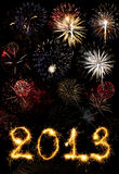 2013 made of sparks. A photo path bengal fires stock image