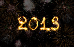 2013 made of sparks Stock Images