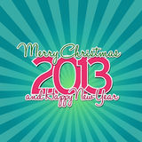 2013 magenta year sunburst. 2013 new year on the sunburst background Stock Photography