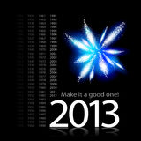 2013 Make It A Good One. Vector illustration of passing of time towards 2013 Stock Photography