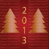2013 Marry Christmas, Happy new year. 2013 Marry Christmas, Happy new year red background royalty free illustration