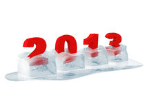 2013 in Melting Ice Cubes Royalty Free Stock Photo